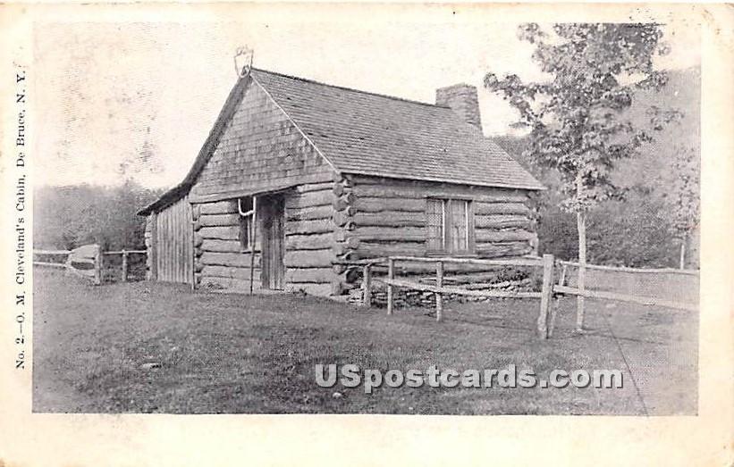 O M Cleveland's Cabin - De Bruce, New York NY Postcard
