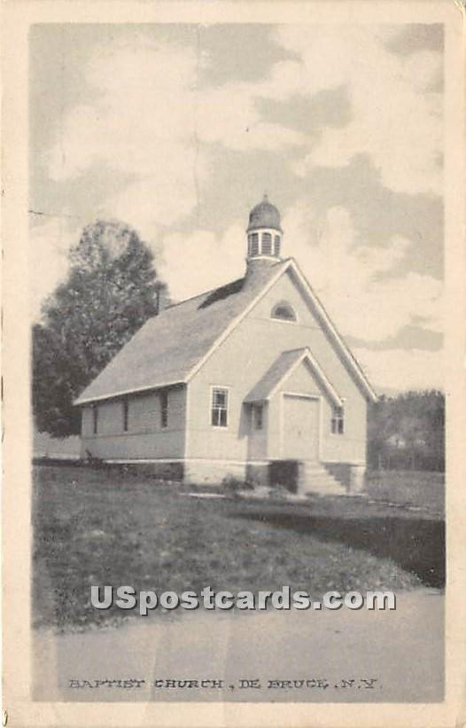 Baptist Church - De Bruce, New York NY Postcard