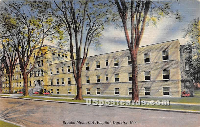 Brooks Memorial Hospital - Dunkirk, New York NY Postcard