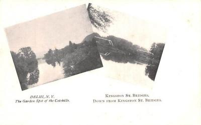 Kingston St Bridge Delhi, New York Postcard