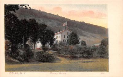 County House Delhi, New York Postcard