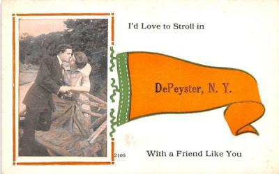 Kiss DePeyster, New York Postcard