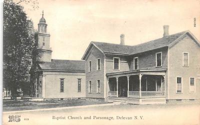Baptist Church Delevan, New York Postcard