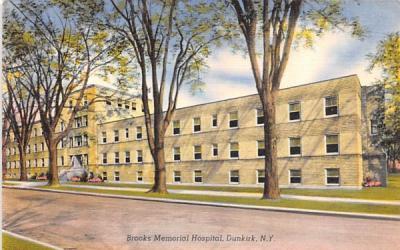 Brooks Memorial Hospital Dunkirk, New York Postcard