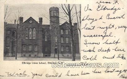 Elbridge Union School - New York NY Postcard