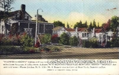 Flower Garden - Elbridge, New York NY Postcard