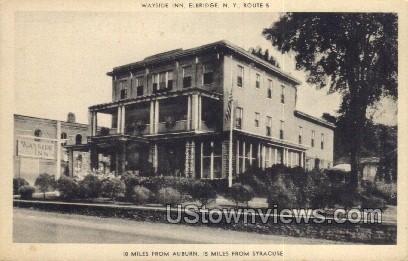 Wayside Inn - Elbridge, New York NY Postcard