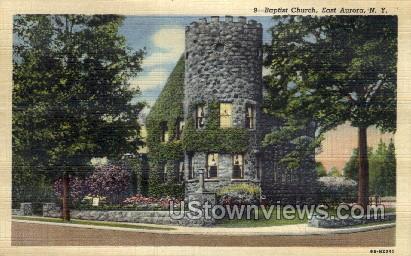 Baptist Church - East Aurora, New York NY Postcard