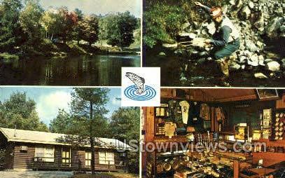 Trout Fishing - Eldred, New York NY Postcard