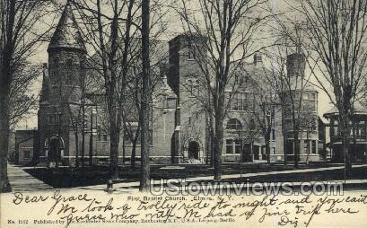 First Baptist Church - Elmira, New York NY Postcard