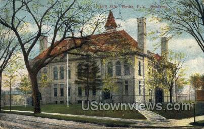 Academy - Elmira, New York NY Postcard