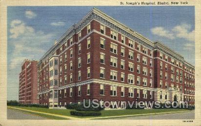 St. Joseph's Hospital - Elmira, New York NY Postcard