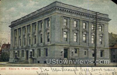 Post Office - Elmira, New York NY Postcard