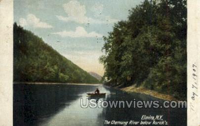 Chemung River - Elmira, New York NY Postcard