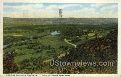 Sullivan Monument - Elmira, New York NY Postcard