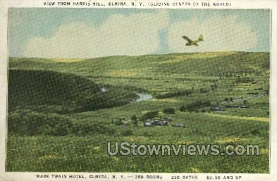 Mark Twain Hotel - Elmira, New York NY Postcard