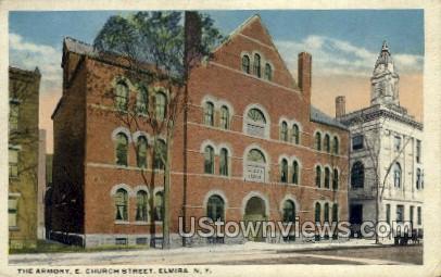 Armory - Elmira, New York NY Postcard