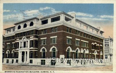 Women's Federation Bldg - Elmira, New York NY Postcard