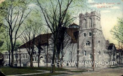 Hedding M.E. Church - Elmira, New York NY Postcard