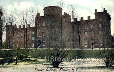 Elmira College - New York NY Postcard