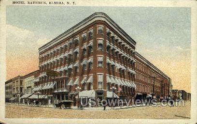 Hotel Rathbun - Elmira, New York NY Postcard