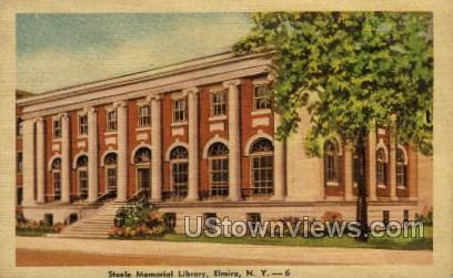Steele Memorial Library - Elmira, New York NY Postcard