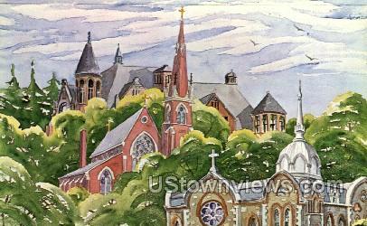 Church Trio - Elmira, New York NY Postcard