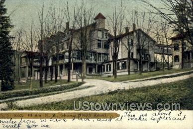Gleason Health Resort - Elmira, New York NY Postcard