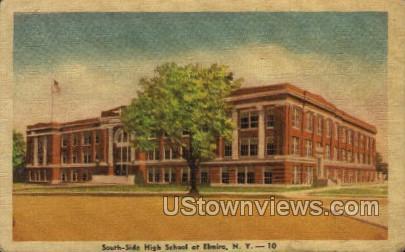 High School - Elmira, New York NY Postcard