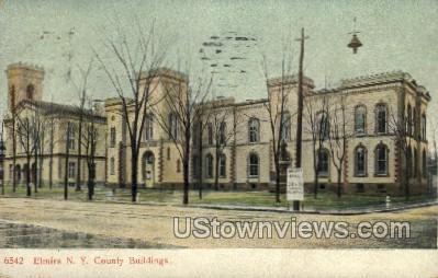 Couty Bldg - Elmira, New York NY Postcard