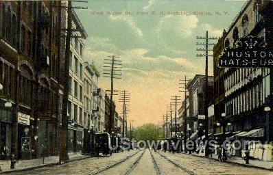 West Water St. - Elmira, New York NY Postcard