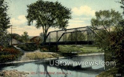 Seely Creek Bridge - Elmira, New York NY Postcard
