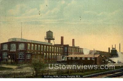Knitting Mills - Elmira Heights, New York NY Postcard
