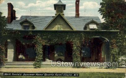 Quarry Farm - Elmira, New York NY Postcard