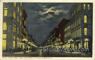 Water Street - Elmira, New York NY Postcard