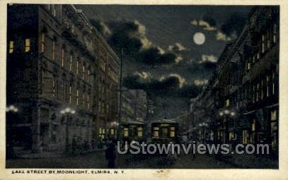 Lake Street - Elmira, New York NY Postcard
