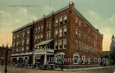 Langwell Hotel - Elmira, New York NY Postcard