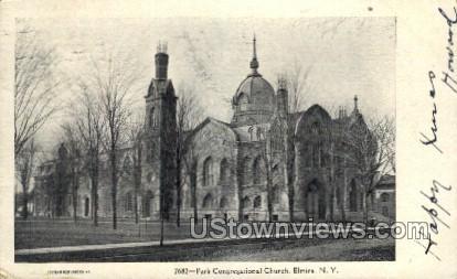 Park Congregational Church - Elmira, New York NY Postcard