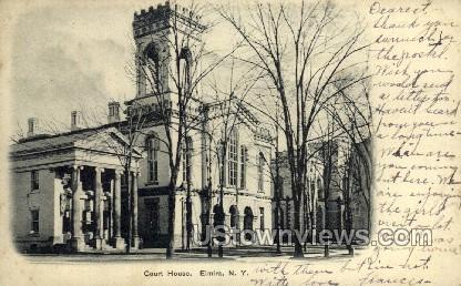 Court House - Elmira, New York NY Postcard