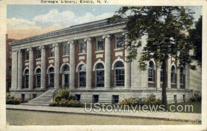 Carnegie Library - Elmira, New York NY Postcard