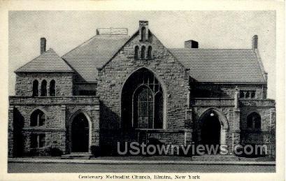 Centenary M.E. Church - Elmira, New York NY Postcard