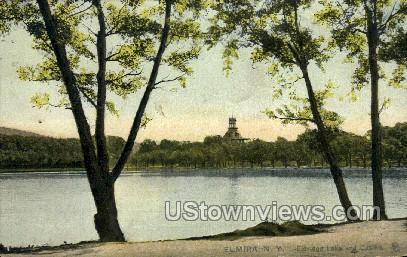 Eldridge Lake - Elmira, New York NY Postcard