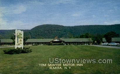 Tom Sawyer Motor Inn - Elmira, New York NY Postcard
