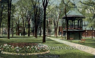 Wisner Park - Elmira, New York NY Postcard