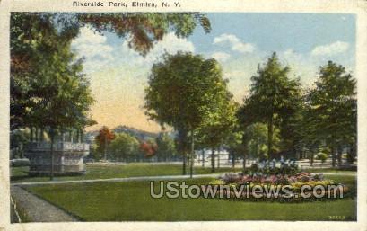 Riverside Park - Elmira, New York NY Postcard