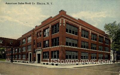 American Sales Book Co. - Elmira, New York NY Postcard
