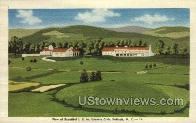 Country Club - Endicott, New York NY Postcard