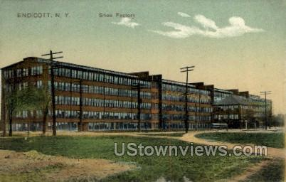 Shoe Factory - Endicott, New York NY Postcard