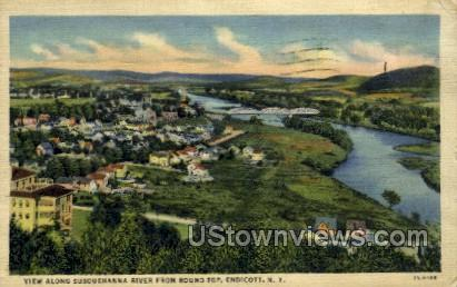 Susquehanna River - Endicott, New York NY Postcard