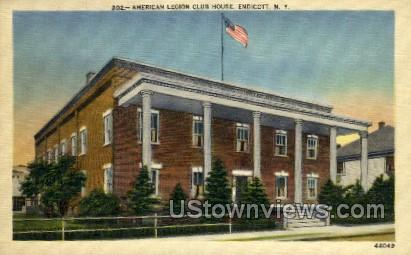 American Legion Club House - Endicott, New York NY Postcard